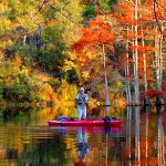 Fishing in the Fall Foliage
